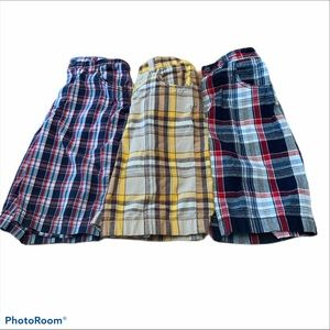 Kids Foot Locker Boys Plaid Cargo Shorts sz 8/10